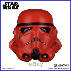 STAR WARS Crimson Stormtrooper Helmet FULL SIZE Anovos NEW