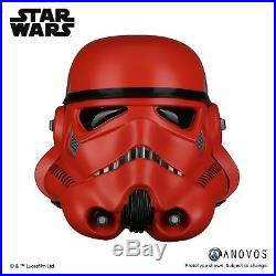 STAR WARS Crimson Stormtrooper Helmet Full Size Replica Anovos Official