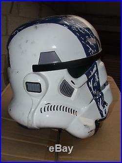 Star Wars Fibreglass Stormtrooper Commander Helmet Full Size + Padding