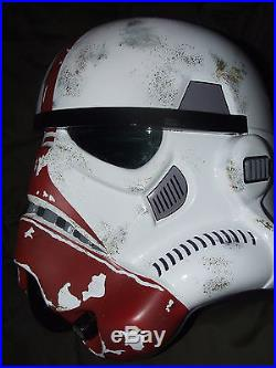Star Wars Fibreglass Stormtrooper Incinerator Trooper Helmet Full Size + Padding