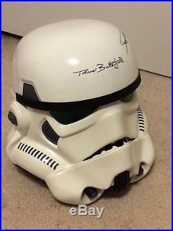 STAR WARS STORMTROOPER eFX Helmet signed by original actors