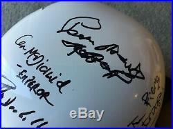 Signed Star Wars Stormtrooper Prop Helmet 11 Cast & Crew Autographs 11 Stand
