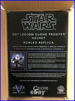 Star Wars 501st Legion Clone Trooper Helmet Scaled Replica Master Replicas NEW