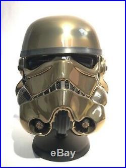 Star Wars AM GOLD 4.5 STORMTROOPER Helmet Darth Vader Master Replicas EFX Anovos