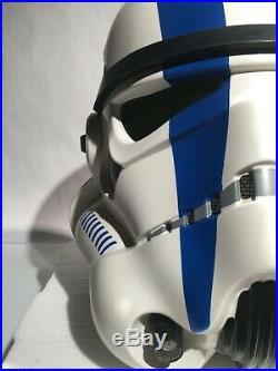 Star Wars ANOVOS 11 STORMTROOPER COMMANDER Helmet Mandalorian EFX Darth Vader