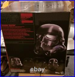 Star Wars BLACK Shadow Trooper Helmet Stormtrooper Battlefront GAMESTOP EXCL MIB