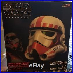 Star Wars Black Series Battlefront Imperial Shock Trooper Helmet Stormtrooper
