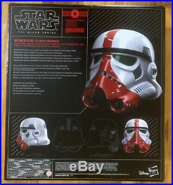 Star Wars Black Series Incinerator Stormtrooper Premium Electronic Helmet Sealed