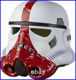Star Wars Black Series Incinerator Stormtrooper Premium Electronic Helmet (VG)