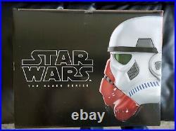 Star Wars Black Series Incinerator Stormtrooper helmet in hand NEW NIB sealed