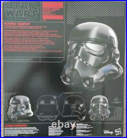 Star Wars Black Series Shadow Trooper Black Helmet Full Size Voice Changer