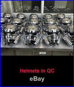 Star Wars CELEBRATION ORLANDO EFX Chrome Stormtrooper Helmet 40th Anni EXCLUSIVE