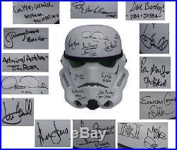 Star Wars Cast Signed Stormtrooper Helmet Celeb Auth COA