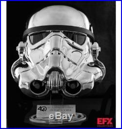 Star Wars Chrome Plated Stormtrooper Helmet Exclusive Limited Edition 40th