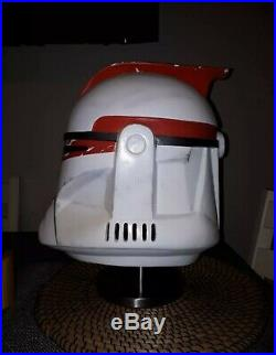 Star Wars Clone Trooper Phase 1 Clone Captain Fibreglass helmet Stormtrooper