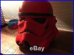 Star Wars Crimson Storm Trooper Helmet Limited Edition Anovos