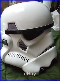 Star Wars Fibreglass Stormtrooper Helmet Anh Full Size With Inner Foam Fitted