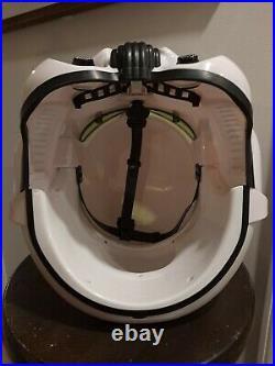 Star Wars Imperial Stormtrooper Helmet For Parts not working As Is Black Series