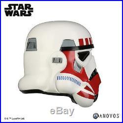 Star Wars Imperial Stormtrooper TK Shock Trooper Red Variant Helmet Prop ANOVOS