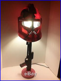 Star Wars LAMP Decor Storm Trooper Helmet stand Clone custom pink black room ar