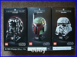 Star Wars LEGO 75274 75276 75277 Boba Fett TIE Fighter Pilot Stormtrooper Helmet