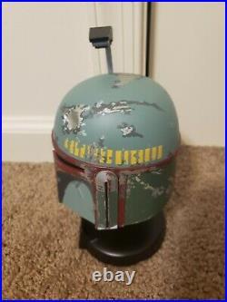 Star Wars Master Replicas Boba Fett Scaled Helmet Jeremy Bulloch Autographed