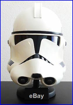 Star Wars Master Replicas Sw-144 Clone Trooper Helmet Bust Figure Statue Le Rare