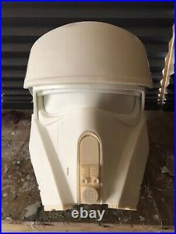 Star Wars RO The Mandalorian Raw Cast Shoretrooper / Stormtrooper Helmet Armour