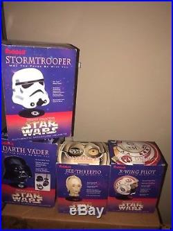 Star Wars Riddell Mini Helmets Stormtrooper, Darth Vader, Luke X-Wing, C-3PO