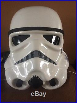 Star Wars Rogue One Fiberglas Stormtrooper 11 prop replica helmet and stand