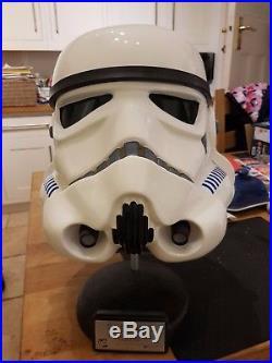 Star Wars Shepperton design studios Stormtrooper stunt helmet No 197 (ANH)