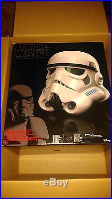 Star Wars Stormtrooper Black Series Elctronic Voice Changer Helmet New in Box