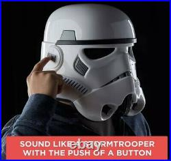 Star Wars Stormtrooper Helmet Black Series Voice Changer NEW Great Gift Sale