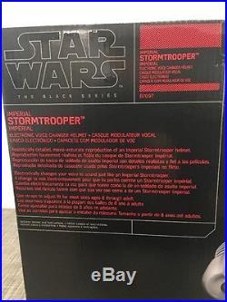 Star Wars The Black Series Imperial Stormtrooper Voice Changer Helmet Hasbro NEW