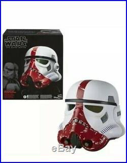 Star Wars The Black Series Incinerator Stormtrooper Electronic Voice Helmet New