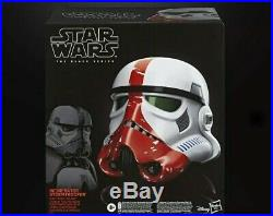 Star Wars The Black Series Incinerator Stormtrooper Premium Electronic Helmet