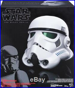Star Wars The Black Series Stormtrooper Voice Changer Helmet BRAND NEW