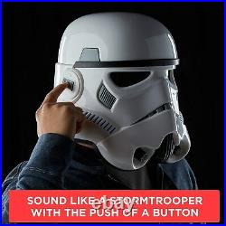 Star Wars The Black Series Stormtrooper Voice Changer Helmet BRAND NEWIN HAND