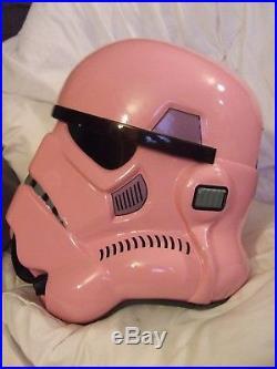 Star Wars Unique Ladies Pink Fibreglass Stormtrooper Helmet Full Size Wearable
