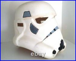 Star Wars Vintage Storm Trooper Helmet 1980's Heavy Duty Plastic Scale 11