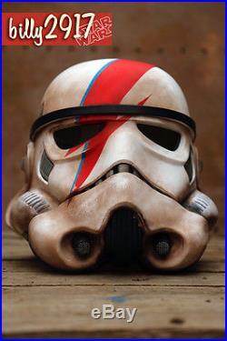 Star wars black series David Bowie Stormtrooper helmet custom paint