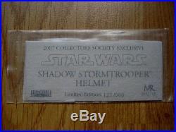 Star wars master replicas 11 shadow stormtrooper helmet, very rare