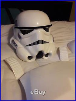 Star wars stormtrooper armour helmet costuume prop incl extras and dc15 blaster