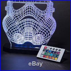 Storm trooper Helmet 3D Star Wars Black Series LED Night Light Lamp Kids Room