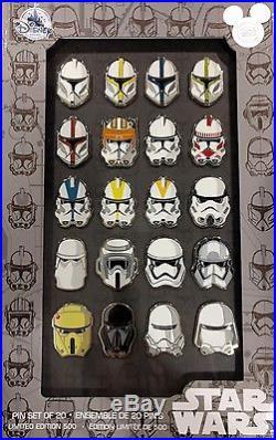 Stormtrooper Helmet 20 Pin Set 2017 Disney Store Star Wars D23 Exclusive LE 500