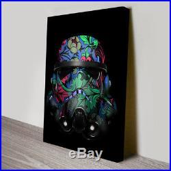 Stormtrooper Helmet Canvas Print Wall Art Hanging Giclee Star Wars 61x91cm