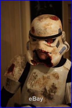 Stormtrooper Zombie Death Trooper Helmet & Shoulders Star Wars Armor Costume