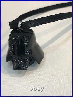 Swarovski Crystal Star Wars Darth Vader And Storm Trooper Helmet Ornament BNIB