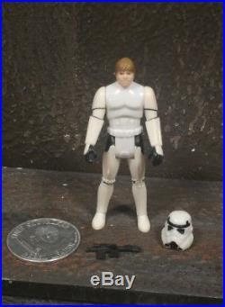 Vintage Kenner Star Wars Last 17 Luke Stormtrooper Original Helmet Coin Potf
