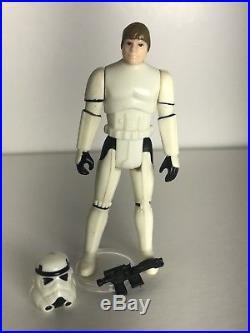 Vintage Star Wars Complete Luke Stormtrooper POTF Original V1c Blaster & Helmet